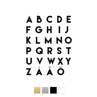 Wallstickers - Alfabetet - svart