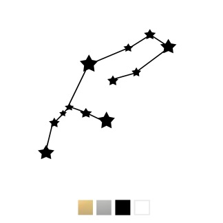 Wallstickers - Stjärntecken - Svart