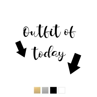 Wallstickers - Outfit of today - svart