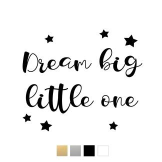 Wallstickers - Dream big little one - Svart