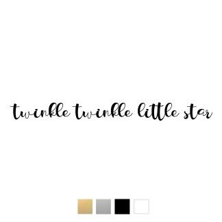 Wallstickers - Twinkle.. - svart 25cm