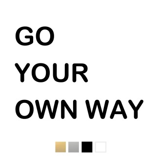 Wallstickers - Go your own way - svart