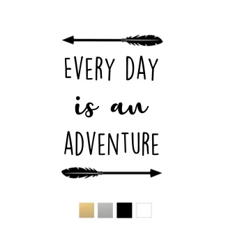 Wallstickers - Every day is an adventure - svart a4