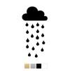 Wall stickers Stort regnmoln - Valfri färg - Svart