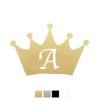 Wall stickers - Krona med valfri bokstav - Guld 10cm