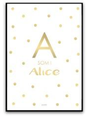 Poster - Namnbild, guld