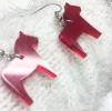 Örhängen - Dalahästar - Rött