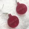 Örhängen - Julkulor - Rött med texten