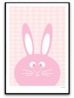 Rosa kanin med mönster