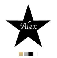 Wall stickers - Stjärna med valfri text