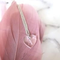 Hjärtformat hängsmycke - Valfri bokstav