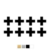 Wall stickers - Stora kryss/plus