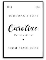 Poster - Namn och födelsebild