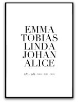 Poster - Familj och årtal