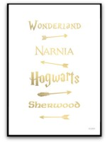 Poster - Fairy Tale Road Sign