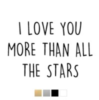 Wall stickers - I love you more than all the stars