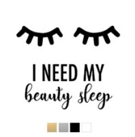 Wall stickers - I need my beauty sleep