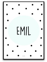 Namnbild - Mint/svart