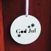 Träskylt - God Jul