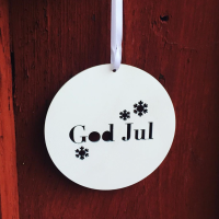 Träskylt - God Jul