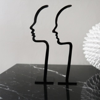 Siluett - Profil - Profil - Kvinna 17cm