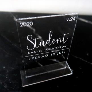 Studentskylt -