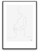 Poster - Gravid - A4 grå bakgrund