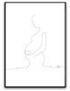 Poster - Gravid - A4 vit bakgrund