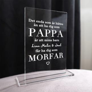 Skylt - Pappa & morfar -