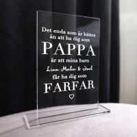 Skylt - Pappa & farfar