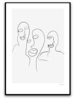 Poster - Three figures