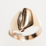Guldring med vitguldsdetalj/ Ring in gold with a white gold detail