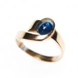 Guldring i 18K med äkta safir/ Ring in gold with sapphire