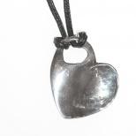 Handgjort hjärta i silver/ Handmade heart in silver