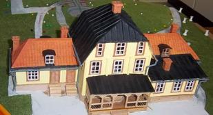 Sundbybergs gård  - modell av Rune Svensson  (under arbete)