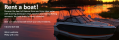 Rent a boat banner