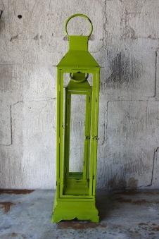 Lykta Grön - Lykta grön stor höjd 78 cm bredd 20 cm