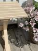 Trädgårdsbänk Sparven Gräddvit - trädgårdsbänk Sparven