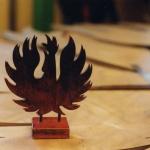Fågel Fenix, material rostfritt stål