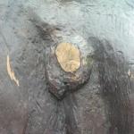 """Skulpturen """"mötet"""" hade blivit stympad år 2006."""