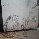 Skulptur i smidesjärn. Konstnär Martha Edelheight.