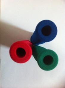 Handbandsrullen vid hygien - Röd