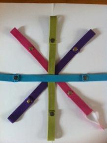 Flexibelt fästband för rullstolar - Flexibelt fästband Orange
