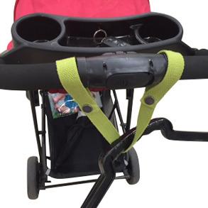 Fästbandet för barnvagns stativ med olika möjligheter. - FÄSTBAND TILL BARNVAGNAR