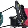 Fästbandet för barnvagns stativ med olika möjligheter.