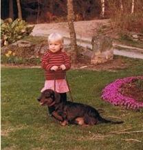 Min första hundvän - taxen Bamse.