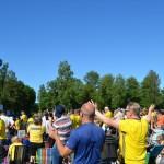 Sverige gör mål