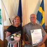 Pernilla och Alf från styrelsen