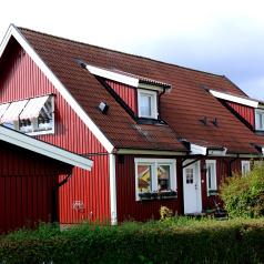 Färdig fasad på Tävelstad i Rimforsa