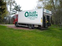 Vår fina lastbil som vi använder när vi levererar.